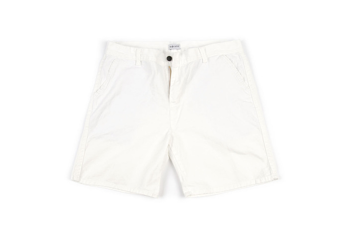white canvas shorts