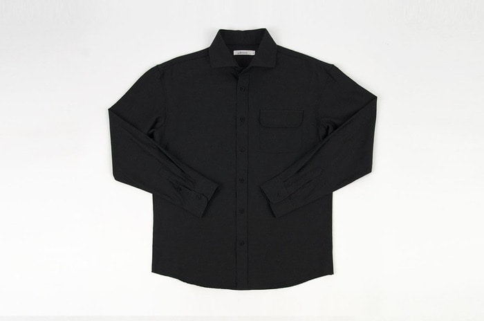 herringbone black shirt