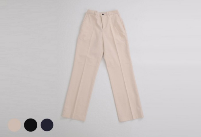 half banding wide slacks